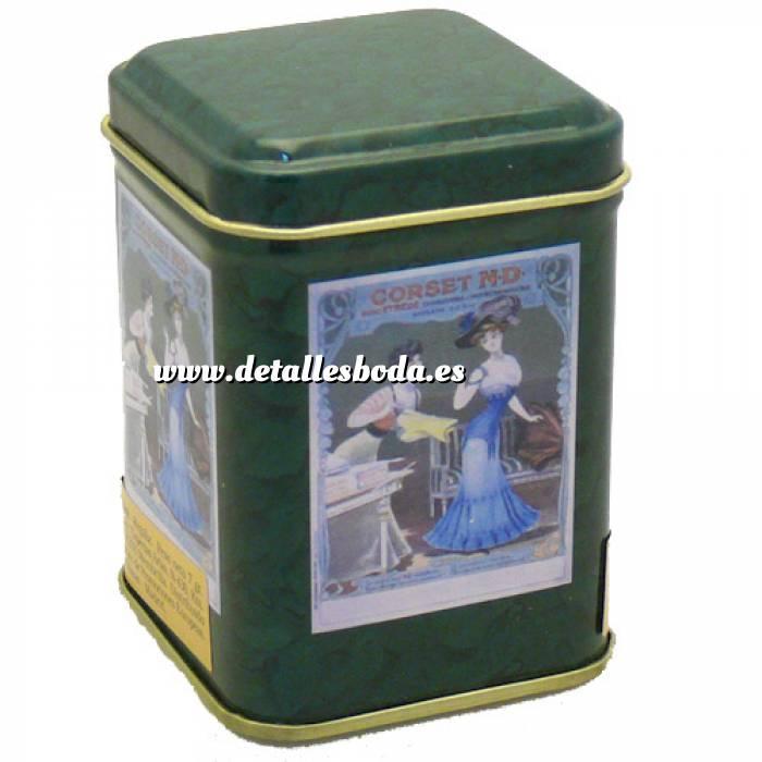Imagen Cajitas para regalo Caja metal Te verde