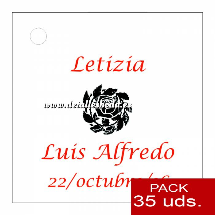 Imagen Etiquetas personalizadas Etiqueta Modelo A14 (Paquete de 35 etiquetas 4x4)