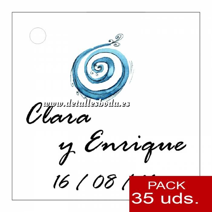 Imagen Etiquetas personalizadas Etiqueta Modelo C08 (Paquete de 35 etiquetas 4x4)
