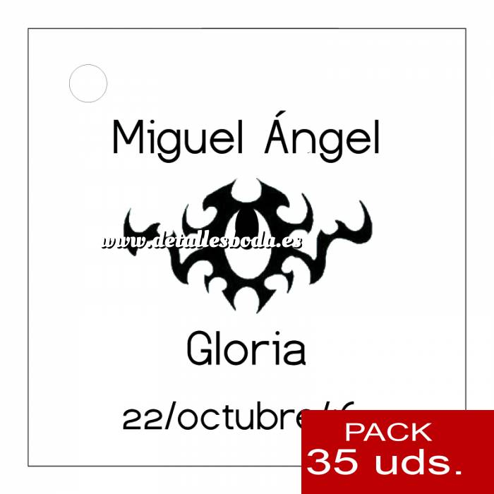 Imagen Etiquetas personalizadas Etiqueta Modelo C16 (Paquete de 35 etiquetas 4x4)