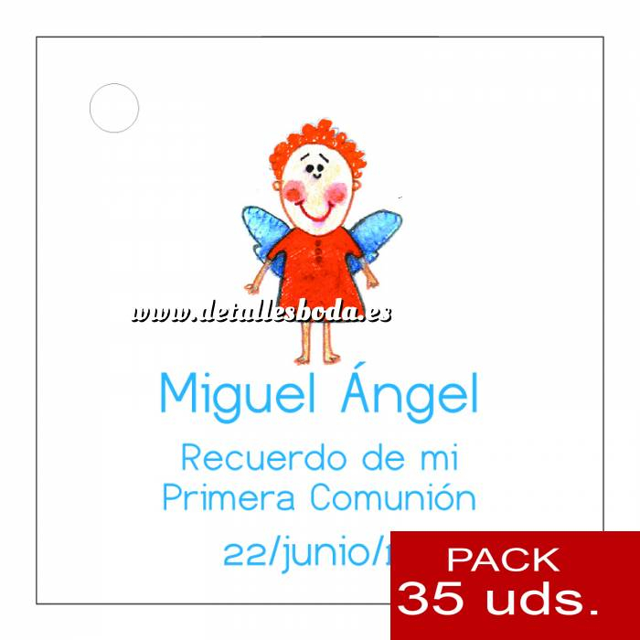 Imagen Etiquetas personalizadas Etiqueta Modelo D15 (Paquete de 35 etiquetas 4x4)