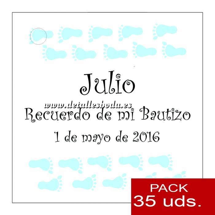 Imagen Etiquetas personalizadas Etiqueta Modelo D23 (Paquete de 35 etiquetas 4x4)