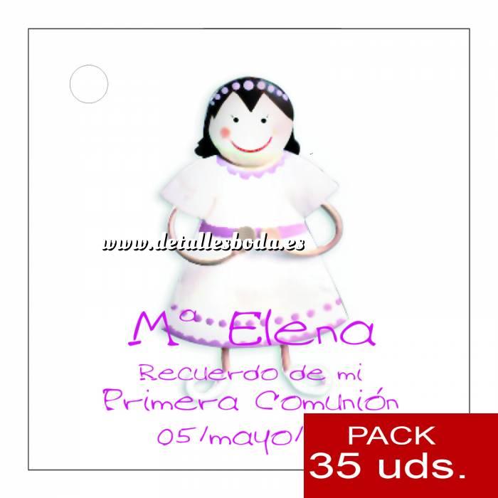 Imagen Etiquetas personalizadas Etiqueta Modelo E13 (Paquete de 35 etiquetas 4x4)