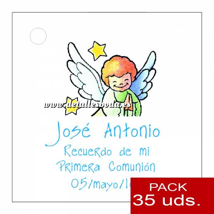 Imagen Etiquetas personalizadas Etiqueta Modelo E15 (Paquete de 35 etiquetas 4x4)