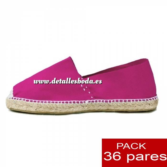 Imagen Mujer Colores Lisos Alpargatas cerradas MUJER color FUCSIA - caja 36 pares (Últimas Unidades)