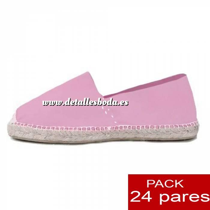 Imagen Mujer Colores Lisos Alpargatas cerradas MUJER color ROSA - caja 24 pares (Últimas Unidades)