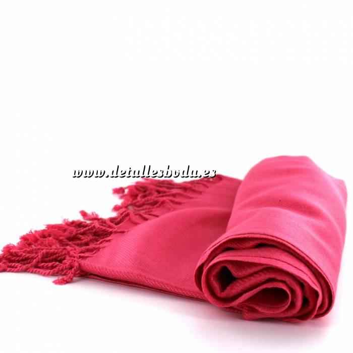Imagen Pashminas Pashmina Lisa CALIDAD SUPERIOR - Color ROSA CHICLE - CORAL (Pasmina)