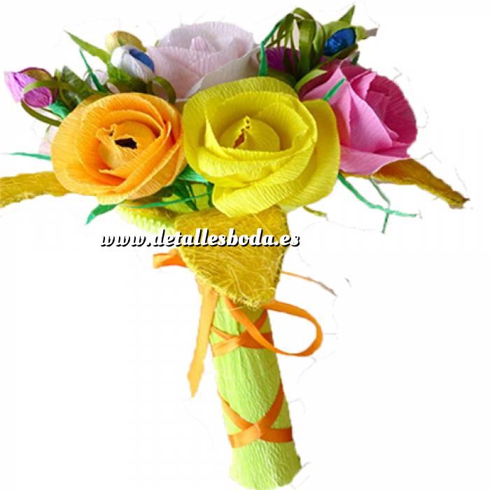 Imagen Prácticos mujer Ramo Mediano - Flor Bombón - Color Liso
