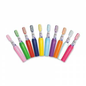 Imagen Baño y aromas Mini Cepillo de dientes CELESTE con pasta incluida