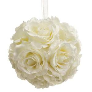 Detalles para la ceremonia - Pompon color blanco 16 cm- Decoracion evento