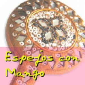 Espejos, Joyeros y Bisuteria - Espejo India con mango (Últimas Unidades)
