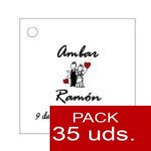 Imagen Etiquetas personalizadas Etiqueta Modelo A05 (Paquete de 35 etiquetas 4x4)