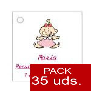 Imagen Etiquetas personalizadas Etiqueta Modelo B24 (Paquete de 35 etiquetas 4x4)