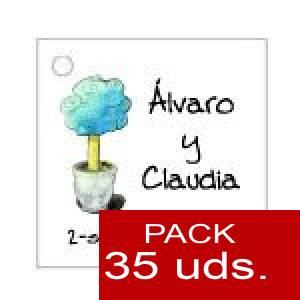 Imagen Etiquetas personalizadas Etiqueta Modelo D08 (Paquete de 35 etiquetas 4x4)