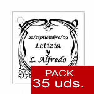 Imagen Etiquetas personalizadas Etiqueta Modelo D09 (Paquete de 35 etiquetas 4x4)