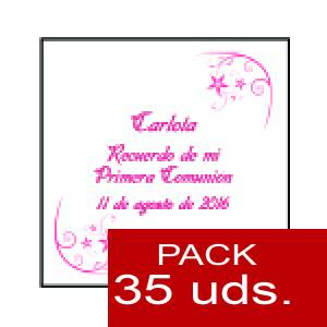 Imagen Etiquetas personalizadas Etiqueta Modelo F19 (Paquete de 35 etiquetas 4x4)