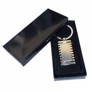 Para Hombre - Llavero metal rectangular