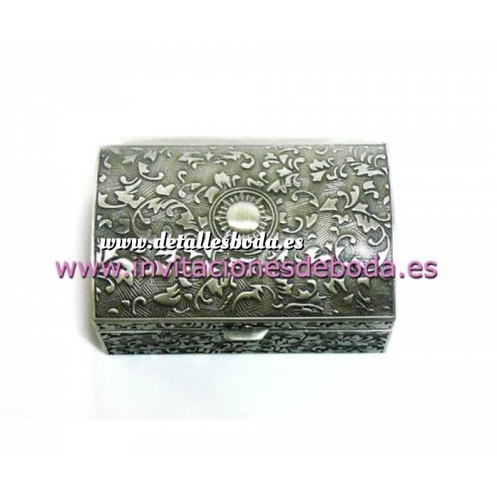 Imagen Bandejas y Cofres Cofre Metal Rectangular 8x5.3x3.5