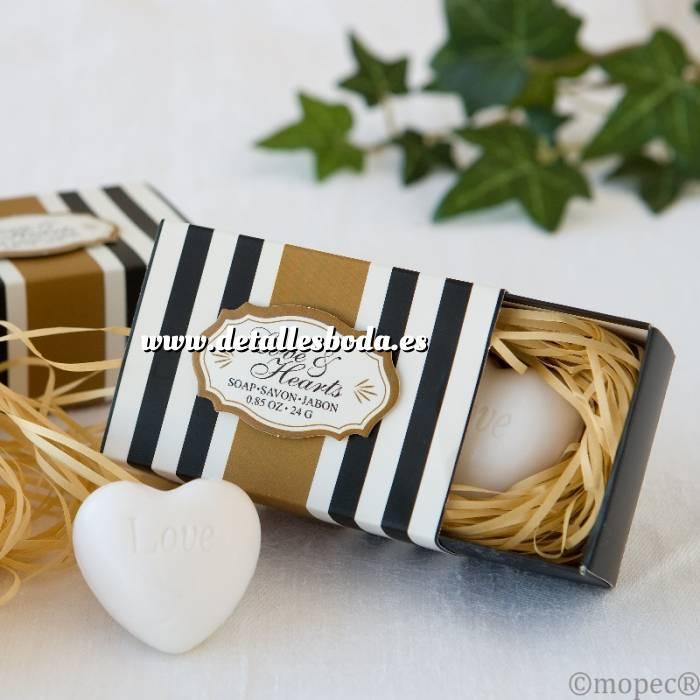 Imagen Baño y aromas Jabón en forma de CORAZÓN con cajita de presentación