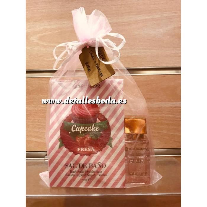 Imagen Baño y aromas PACK perfume y sales de baño Flor de Mayo en bolsita de organza