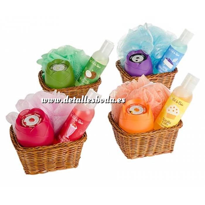 Set De Baño Detalle Boda: Para boda > Catálogo Baño y aromas > Set de baño en cesta de mimbre