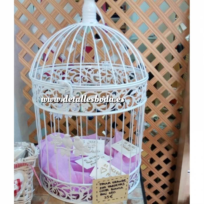 Imagen Decoración para fiestas Jaula de los buenos deseos con tarjetas y cesta