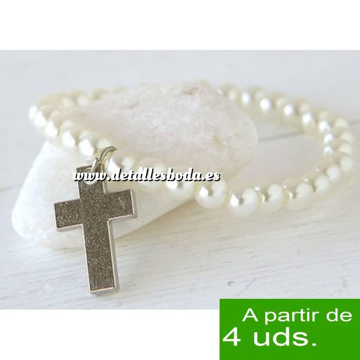 Imagen Detalles y libros de firmas Co Pulsera con perlas y cruz