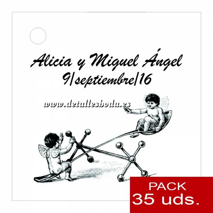 Imagen Etiquetas impresas Etiqueta Modelo B15 (Paquete de 35 etiquetas 4x4)