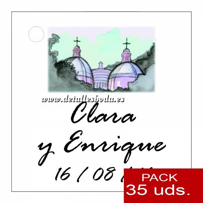 Imagen Etiquetas impresas Etiqueta Modelo D07 (Paquete de 35 etiquetas 4x4)