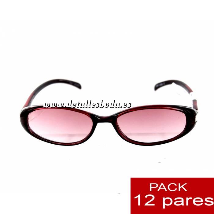 Imagen Gafas de sol Gafas de Sol burdeos para bodas ALTA CALIDAD- Mod. 08. PACK 12 uds (Últimas Unidades)