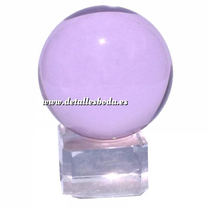 Imagen Marcos y decoración esfera cristal rosada