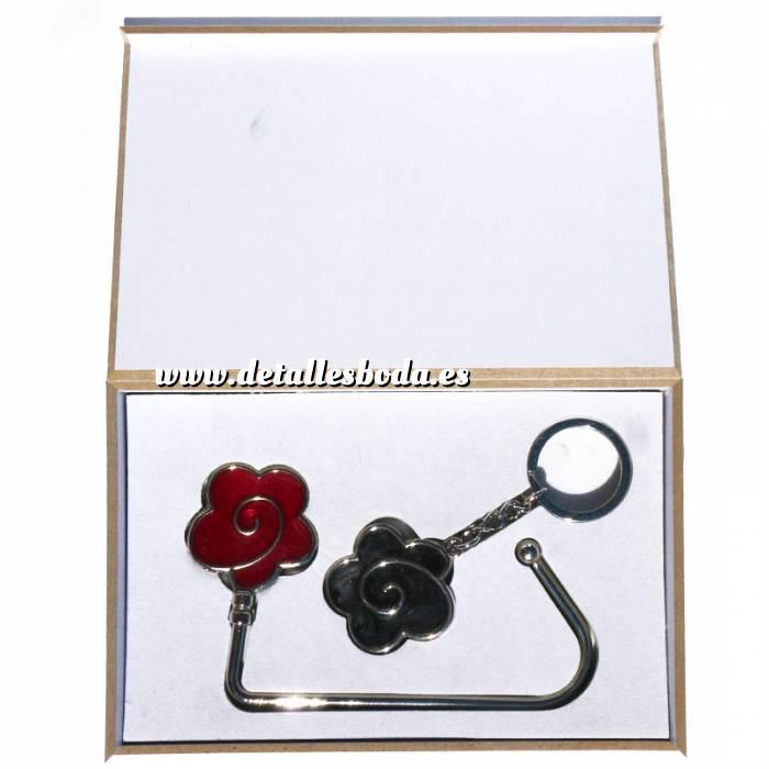 Imagen Prácticos mujer Cuelgabolsos Flor Roja más llavero Flor Negra (Últimas Unidades)