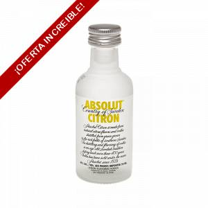 6 Vodka - Vodka Absolut Citron 5cl