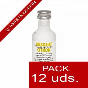 6 Vodka - Vodka Absolut Citron 5cl 1 PACK DE 12 UDS