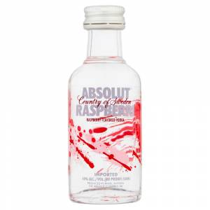 6 Vodka - Vodka Absolut Raspberri 5cl