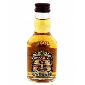7 Whisky - Whisky Chivas Regal 12 años Blended 5cl ( SUPER OFERTA VERANO)