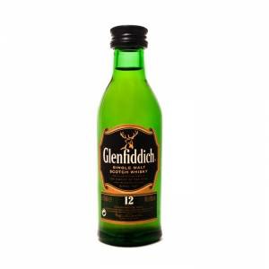 7 Whisky - Whisky Glenfiddich 12 aáos (sin tubo), 5cl OFERTA ESTRELLA