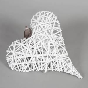 Cestas Regalos - Corazón mimbre blanco colgante (Últimas Unidades)