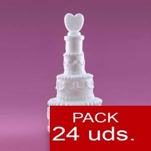 Imagen Detalles para la ceremonia Pompero Pastel con corazón Caja de 24 unidades