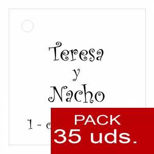 Etiquetas impresas - Etiqueta Modelo A02 (Paquete de 35 etiquetas 4x4)