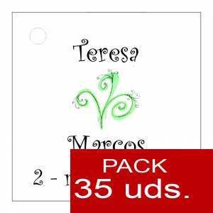 Etiquetas impresas - Etiqueta Modelo E07 (Paquete de 35 etiquetas 4x4)