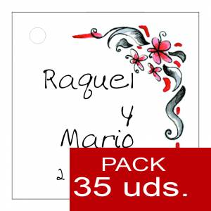 Etiquetas impresas - Etiqueta Modelo F08 (Paquete de 35 etiquetas 4x4)