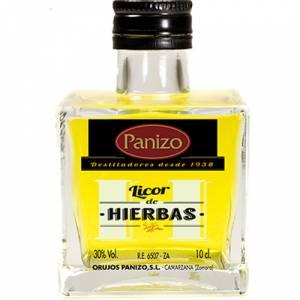 Licores, orujos y crema - Mini orujo de hierbas Panizo 10cl
