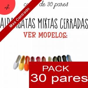 Imagen Mixtas (Mujer y Hombre) Alpargatas MIXTAS ( Mujer color lisos - Hombre color estampados ) caja 30 pares (Últimas Unidades)