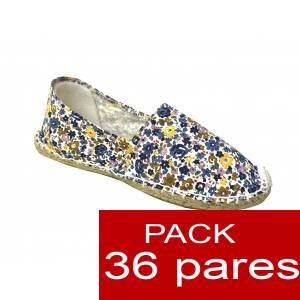 Mujer Estampadas - Alpargata estampada FLORES lilas Caja 36 pares (Últimas Unidades)