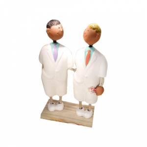 Novios Tarta Modernos - Figura Pastel Chicos (Bubinots) (Últimas Unidades)