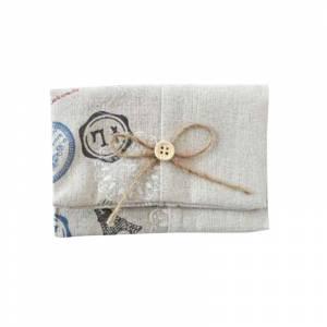 Pr�cticos mujer - Bolsito portatodo Yute Postal Vintage