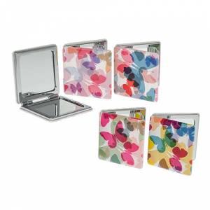 Prácticos mujer - Espejo Cuadrado Mariposas Design
