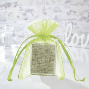 Tamaño 10x15 cms. - Bolsa de organza Verde 10x15 capacidad 10x12 cms.
