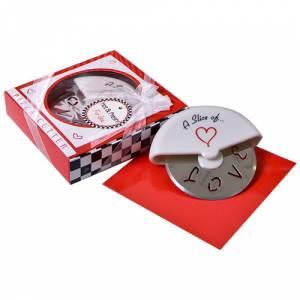 Tazas y Complementos - Cortapizza Cortador para pizza LOVE en caja de regalo (Últimas Unidades)
